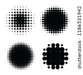 halftone patterns set. halftone ... | Shutterstock .eps vector #1186531942