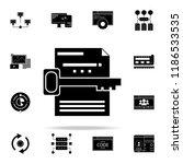 keyword search icon. web...   Shutterstock .eps vector #1186533535