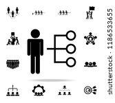employee selection icon.... | Shutterstock .eps vector #1186533655