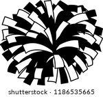 black and white cheerleader pom ... | Shutterstock .eps vector #1186535665