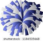 blue and white cheerleader pom... | Shutterstock .eps vector #1186535668
