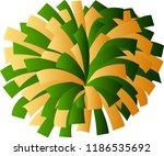 green and yellow cheerleader... | Shutterstock .eps vector #1186535692