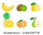 set of colorful fruits icon ... | Shutterstock .eps vector #1186539778