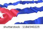 3d render  realistic wavy flag... | Shutterstock . vector #1186540225