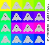 funny ghost halloween pattern   Shutterstock .eps vector #1186544212