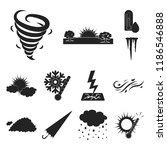 different weather black icons... | Shutterstock .eps vector #1186546888