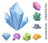 precious minerals cartoon icons ... | Shutterstock .eps vector #1186552762