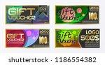 gift certificate voucher coupon ...   Shutterstock .eps vector #1186554382