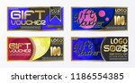 gift certificate voucher coupon ...   Shutterstock .eps vector #1186554385