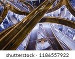 aerial view of highway... | Shutterstock . vector #1186557922