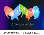 vector speech bubble background ... | Shutterstock .eps vector #1186561678