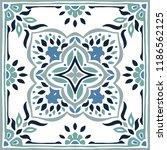 talavera pattern.  azulejos... | Shutterstock .eps vector #1186562125