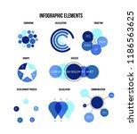 infographic elements  data... | Shutterstock .eps vector #1186563625