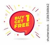 buy 1 get 1 free  sale speech...   Shutterstock .eps vector #1186568662