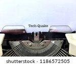 tech quake  heading title... | Shutterstock . vector #1186572505