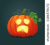 halloween vector icon. scared... | Shutterstock .eps vector #1186578172