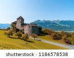 beautiful architecture at vaduz ... | Shutterstock . vector #1186578538