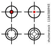 set target icons sniper scope ... | Shutterstock .eps vector #1186588945