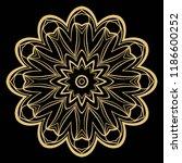 round pattern flower mandala....   Shutterstock .eps vector #1186600252