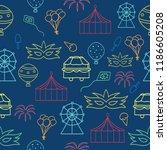 vector indigo carnival seamless ... | Shutterstock .eps vector #1186605208
