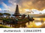 pura ulun danu bratan temple ...   Shutterstock . vector #1186610095