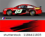 vehicle vinyl wrap design...   Shutterstock .eps vector #1186611835