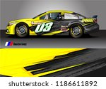 vehicle vinyl wrap design... | Shutterstock .eps vector #1186611892