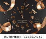 new year banner with golden... | Shutterstock .eps vector #1186614352