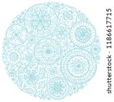 circle of round lace doilies. | Shutterstock .eps vector #1186617715
