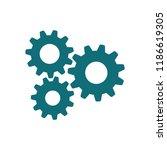 gear icon vector logo template  | Shutterstock .eps vector #1186619305