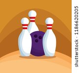 bowling champions league icons | Shutterstock .eps vector #1186620205