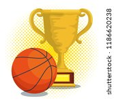 sport trophy cup champions with ... | Shutterstock .eps vector #1186620238