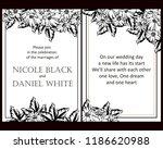 romantic wedding invitation... | Shutterstock .eps vector #1186620988