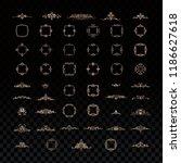 vintage set exclusive borders... | Shutterstock .eps vector #1186627618