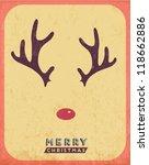 retro vintage minimal merry... | Shutterstock .eps vector #118662886