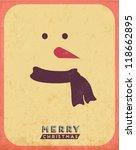 retro vintage minimal merry... | Shutterstock .eps vector #118662895