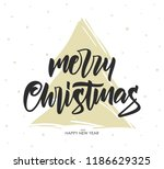 vector hand drawn calligraphic... | Shutterstock .eps vector #1186629325