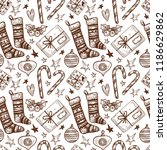 vector seamless pattern with... | Shutterstock .eps vector #1186629862