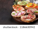 brushetta or traditional... | Shutterstock . vector #1186630942