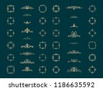 retro rosette and victorian... | Shutterstock .eps vector #1186635592