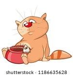 vector illustration of a cute... | Shutterstock .eps vector #1186635628