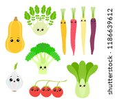 a set of colorful drawings of... | Shutterstock .eps vector #1186639612