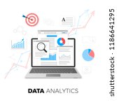 data analytics concept. seo... | Shutterstock .eps vector #1186641295