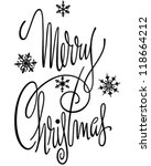 merry christmas banner   retro... | Shutterstock .eps vector #118664212