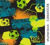 abstract seamless football... | Shutterstock .eps vector #1186643158