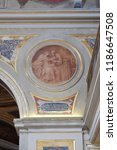 Small photo of ROME, ITALY - SEPTEMBER 03: Fresco painting in Church of St Lawrence at Lucina, Rome, Italy on September 03, 2016.