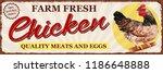 Vintage Farm Fresh Chicken...