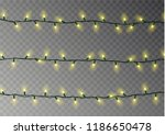 christmas color lights string.... | Shutterstock .eps vector #1186650478
