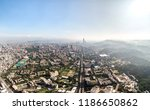 skyline of taipei city in... | Shutterstock . vector #1186650862