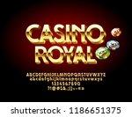 vector golden casino royal... | Shutterstock .eps vector #1186651375